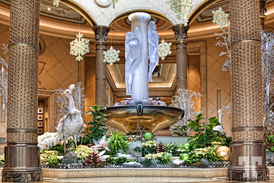 Winter holiday decorations at Palazzo