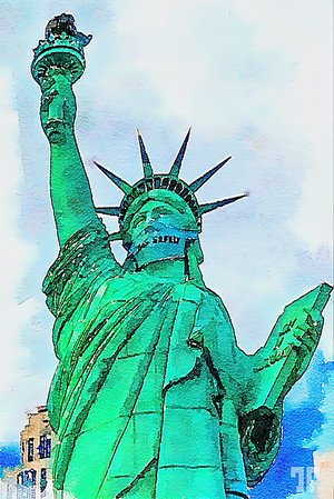 statue-of-liberty-w-mask-watercolor-art-FAA