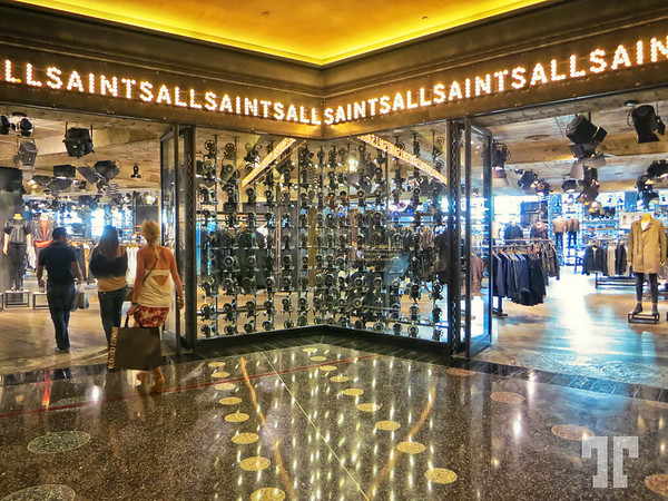 All Saints store in the Cosmopolitan shopping mall at the City Center, Las Vegas