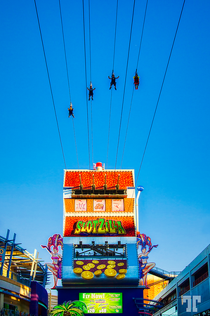 Fremont Street Experience, Las Vegas Slotzilla Zipline - one of the coolest new Vegas attractions.  (ZZ)