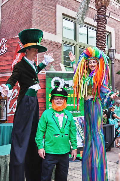 Entertainers at the Linq Promenade on St.Patrick.s Day