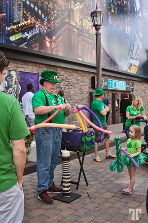 Fun on the Linq Promenade on St.Patrick.s Day Las Vegas