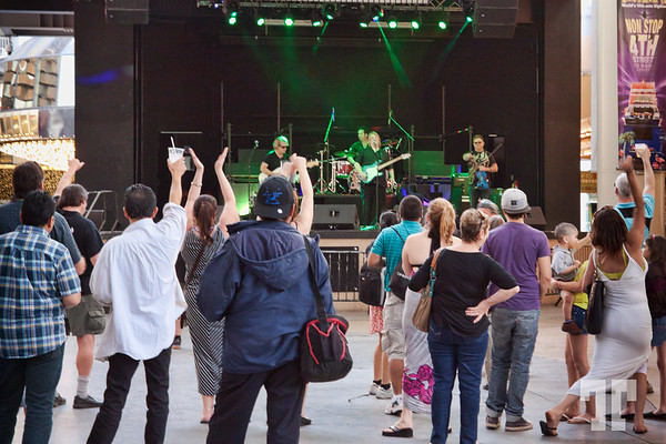 Fremont Street Experience, Las Vegas Celtic Rockers - Free concert on St.Patrick's Day 2015, Fremont Street Experience, Las Vegas