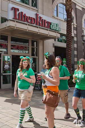 Tilted Kilt Irish Pub & Eatery at the Linq Promenade on St.Patrick.s Day Las Vegas