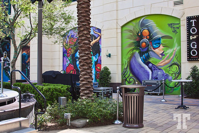 Murals at the Linq Promenade on St.Patrick.s Day Las Vegas