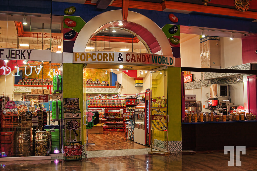 Popcorn & Candy World store at Stratosphere tower, Las Vegas