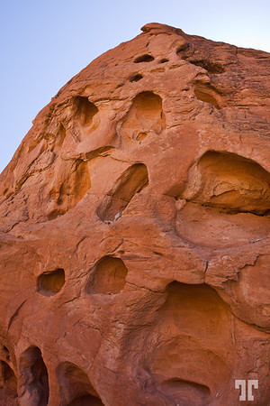 Rock formation in the Valley of Fire, Nevada - Near Las Vegas Attraction