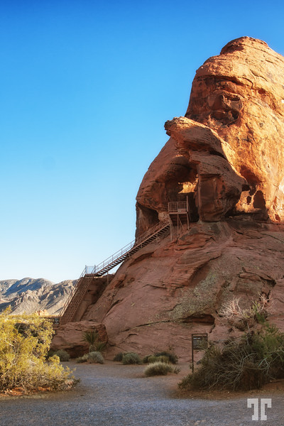 Atlatl Rock in the Valley of Fire State Park
