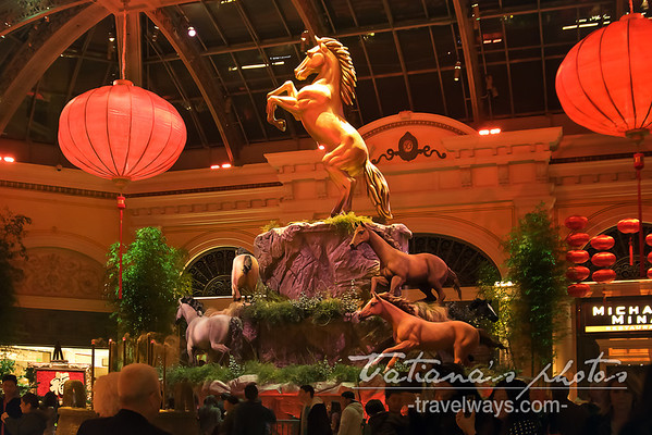Year of the Horse celebration at Bellagio, in Las Vegas