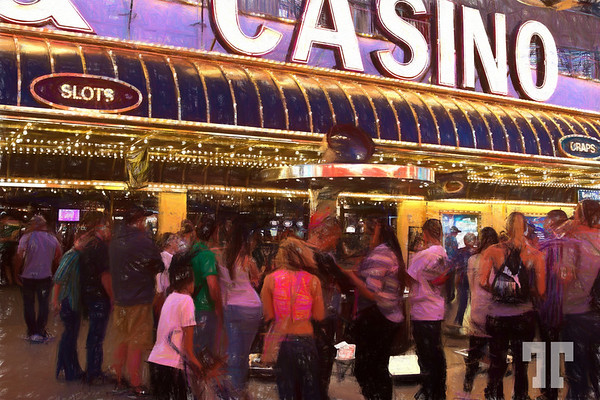 fremont-street-experience-crowd-looking-entertainer-colored-pencil