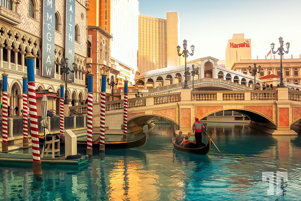 Gondola Ride at Venetian Las Vegas-Topaz