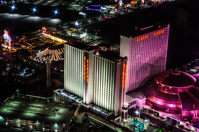 Las Vegas strip from Helicopter