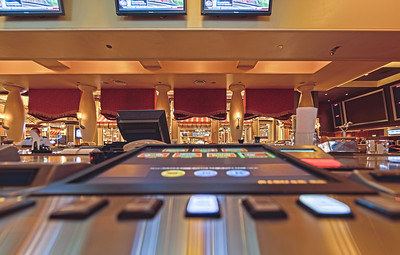 Video poker bar at Bellagio Sports Book