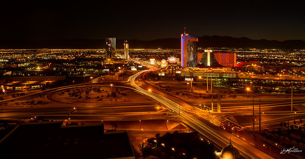 I-15 and Flamingo Road at night