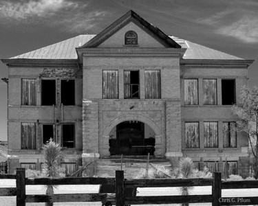 Ghost Towns - During the gold boom, circa 1900, Goldfileld, Nevada prospered and bult this school house.