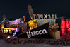 The Neon Museum, Las Vegas,  displays more than 100 signs from 180 properties.  In the 1950s designers often pulled ideas from the surrounding flora and fauna, like the yucca flower from the Mojave Desert at the Yucca Motel.