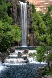 Waterfall at the new Wynn Hotel