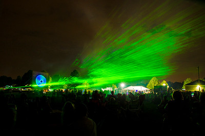 Laser show at Cheshire Fall Festival in Bartlem Park, Cheshire CT