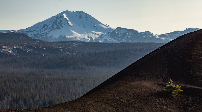 Mt. Lassen from the top of Cinder Cone, Lassen National Park CA