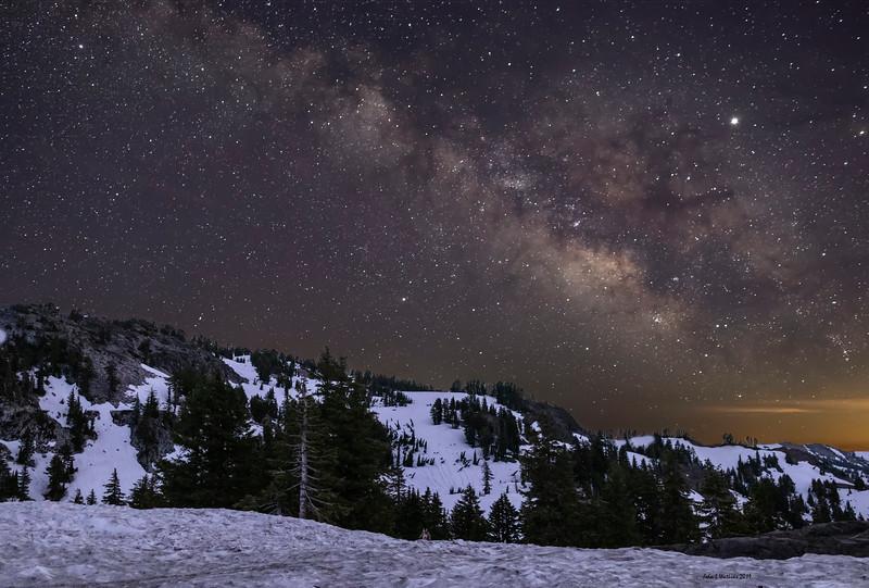 Summer Milky Way Over LIngering Winter Snow