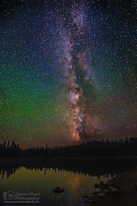 """Dark Reflections,"" Summit Lake, Lassen Volcanic National Park, California"