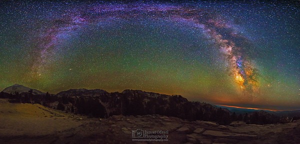 """Lassen Arch,"" The Milky Way over Lassen Peak, Conrad Mountain and Twin Meadows, Lassen Volcanic National Park, California"
