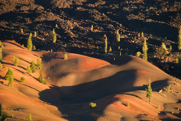 Painted Dunes and Fantastic Lava Beds from Cinder Cone, Sunset