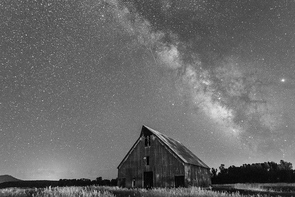 Olsen Barn Milky Way - B/W