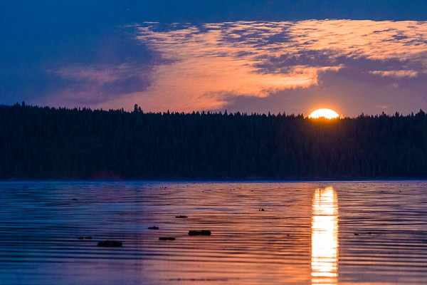 Lake Almanor Supermoon