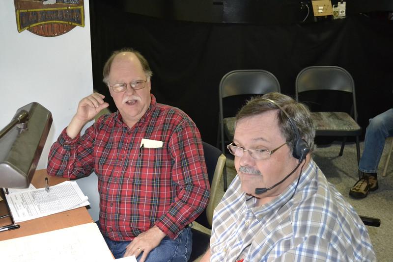 Lloyd Rinehart (left) and Harold Krewer were the regular dispatchers.