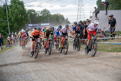 Start for the first ever E-MTB Cross Country World Championships