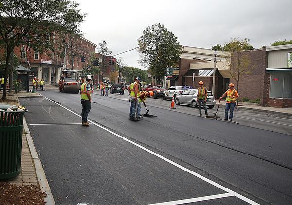 Last days of road construction in Bennington. 092118