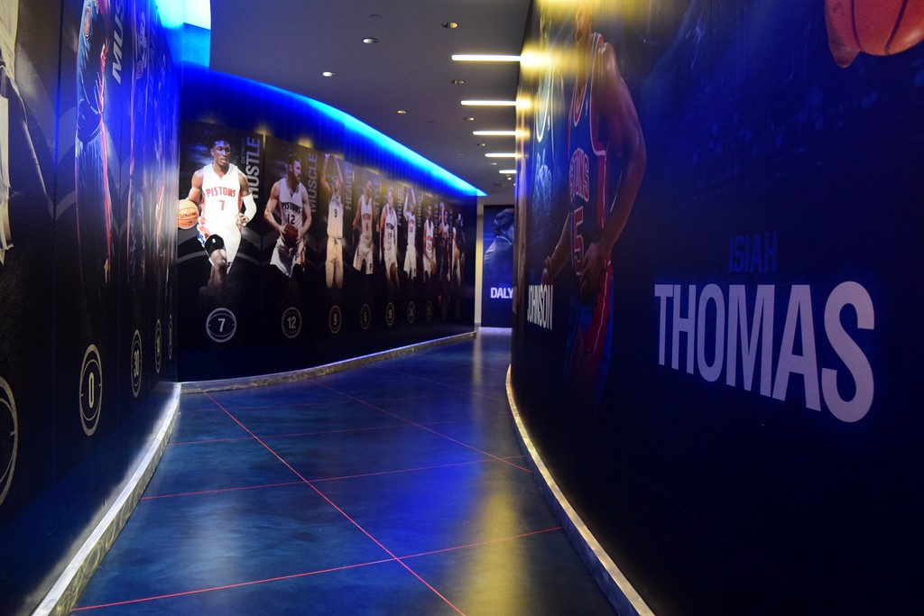 . Inside the Detroit Pistons locker room during the Taste of Auburn Hills, the very last event to be held at The Palace of Auburn Hills before it closes, on Thursday, Oct. 12, 2017.