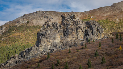 This rock formation in Denali National Park.