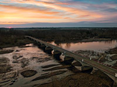 Kasari jõgi ja vana sild / Kasari River and historic bridge, Estonia
