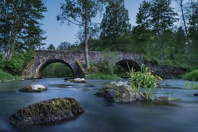 Otteni sild Ahja jõel Otten bridge on river Ahja