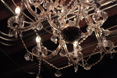 Oct. 30, 2009: The chandelier.