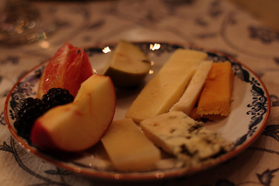 Dec. 15, 2009: My first plate of cheese.