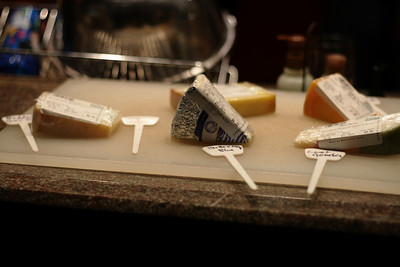 Dec. 15, 2009: Here is the selection of cheeses laid out, warming to room temperature and looking so tempting.