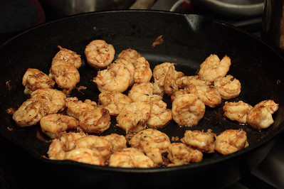 Nov. 2, 2009: Shrimps in the skillet!