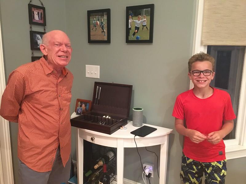 Conall and Grandpa singing