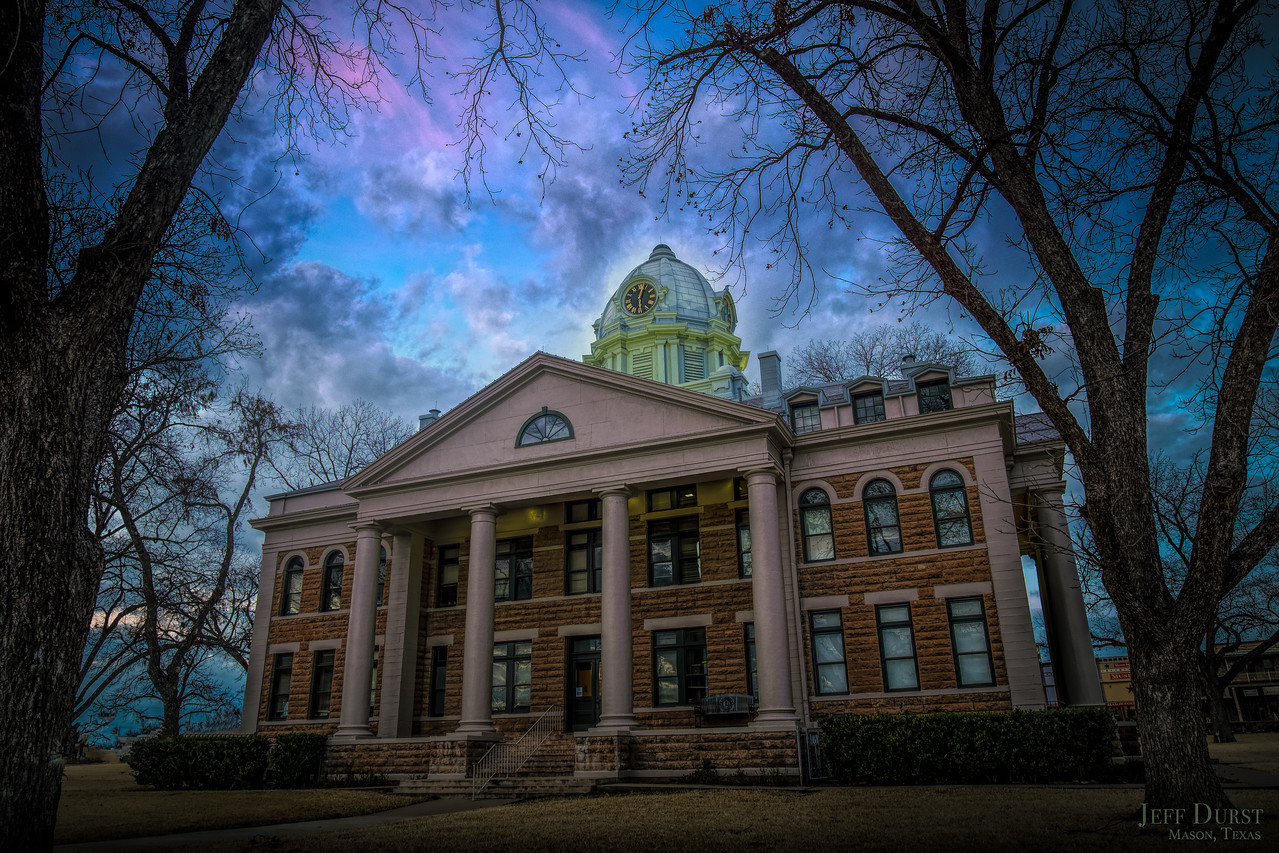 Courthouse Winter Sunset