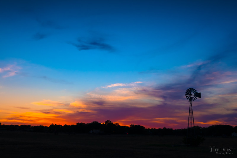 Simple Windmill Sunset