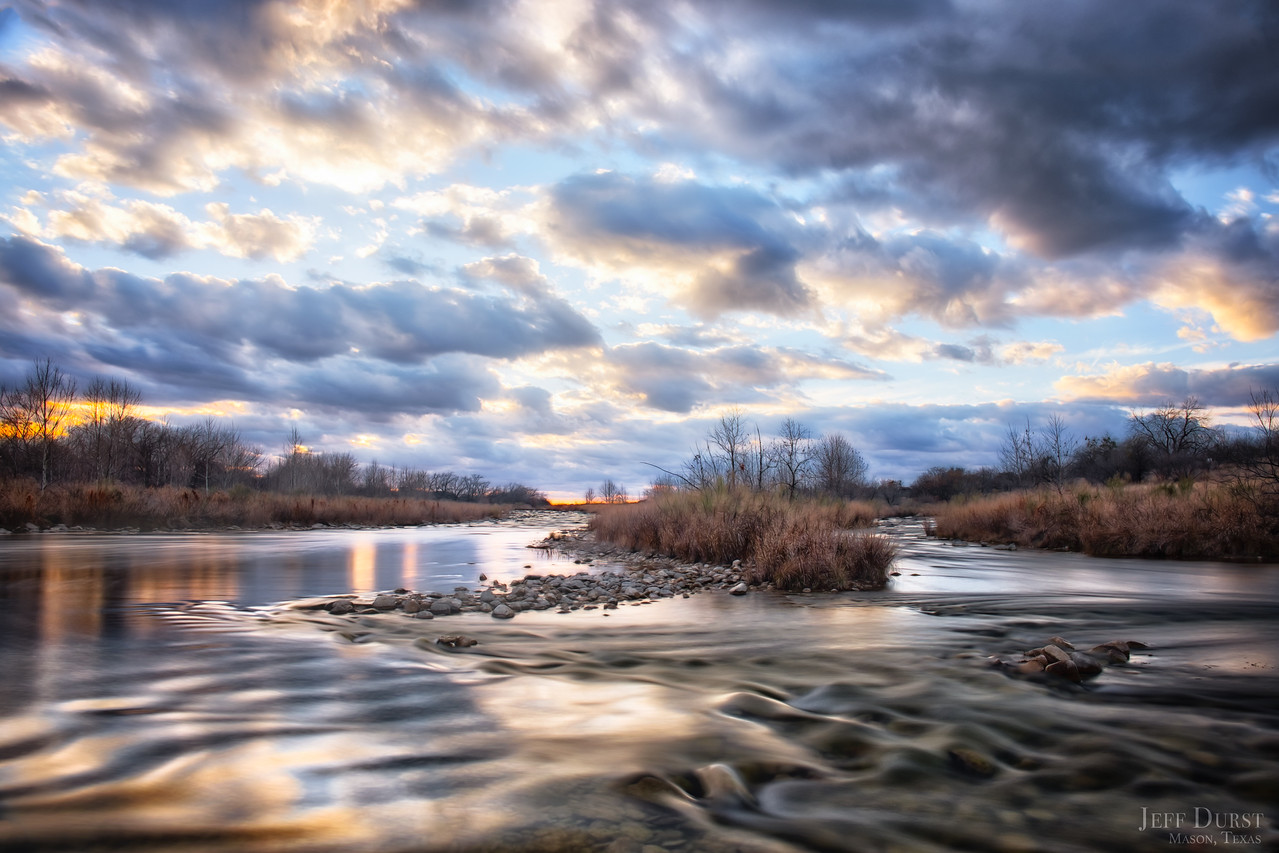 Llano River Moody Golden Winter