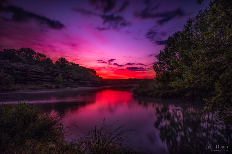 Llano River Purple Sunrise 2018