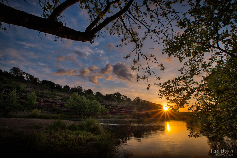 Llano River Sunrise Sunburst 2018
