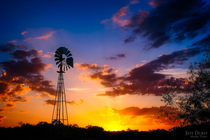 Windmill Glowing Sunset June 2018
