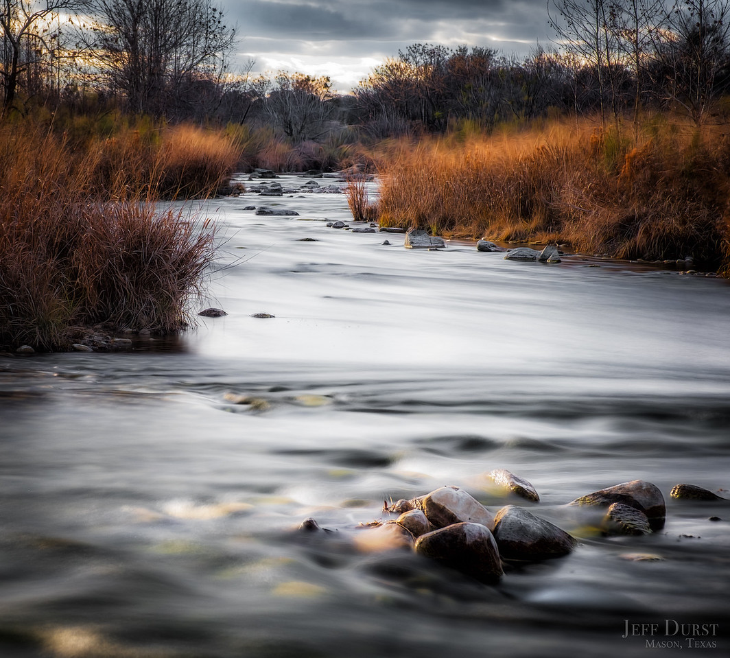 Llano River Moody Winter Square