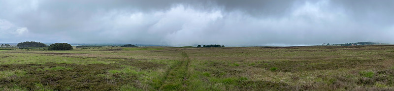 A Panoramic exposure on Newland Moor toward Scaling Dam