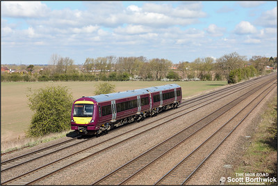 170531 passes Cossington whilst working 5T11 1013 WThFO Leicester-Lincoln on 15/04/2021.
